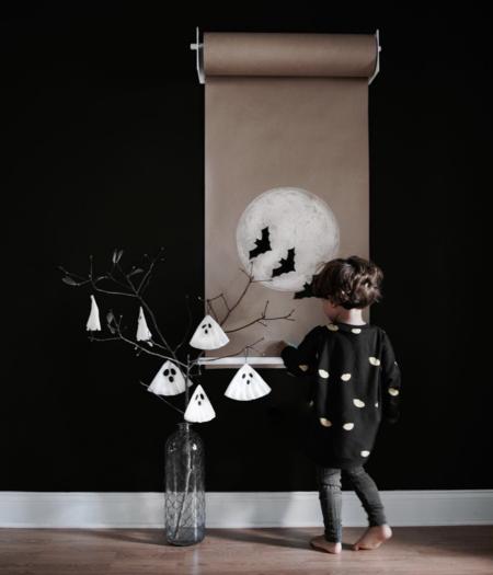 KIDS LITTLE MAN HAPPY Lurking Eyes Loose Sweater - BLACK