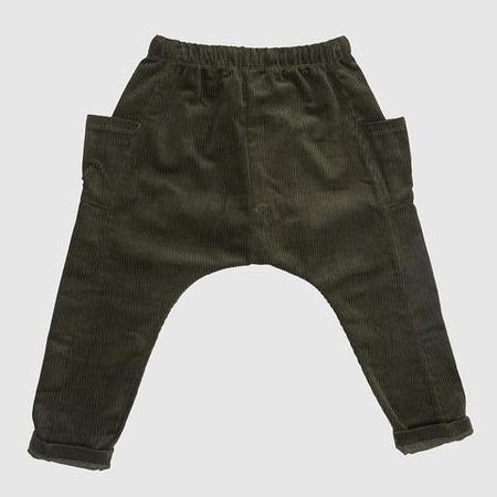 KIDS Feather Drum Luxe Slouchy Cords - FOREST GREEN