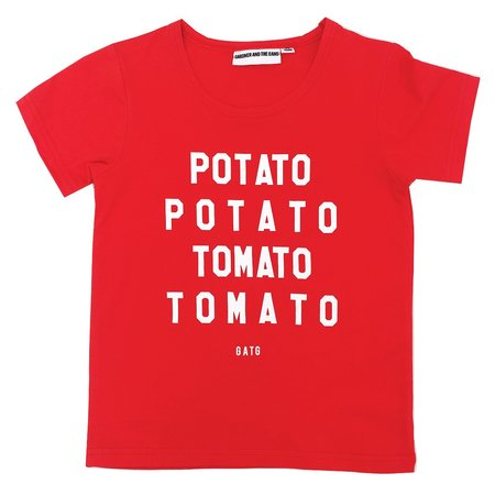 KIDS GARDNER AND THE GANG Potato Tomato Tee - RED