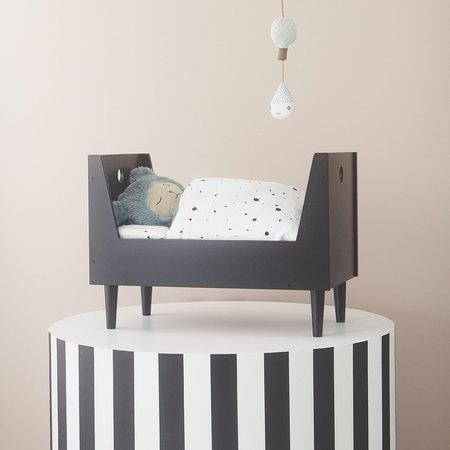 Kids Oyoy Retro Doll Bed - Dark Grey