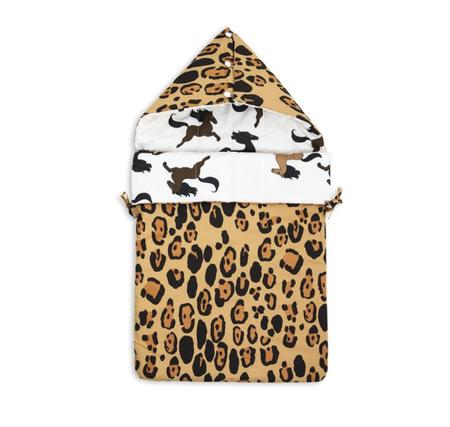 KIDS Mini Rodini Reversible Leopard Horse Sleeping Bag
