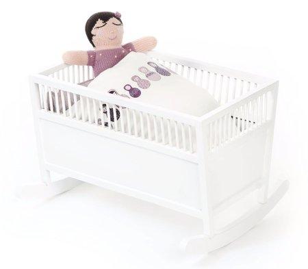 KIDS SMALLSTUFF Rosaline Doll Cradle - WHITE