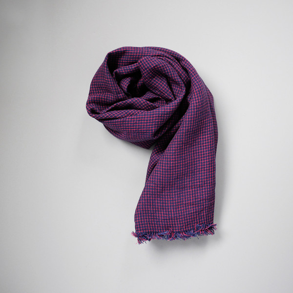 TUZ FRINGE SCARF - PLAID
