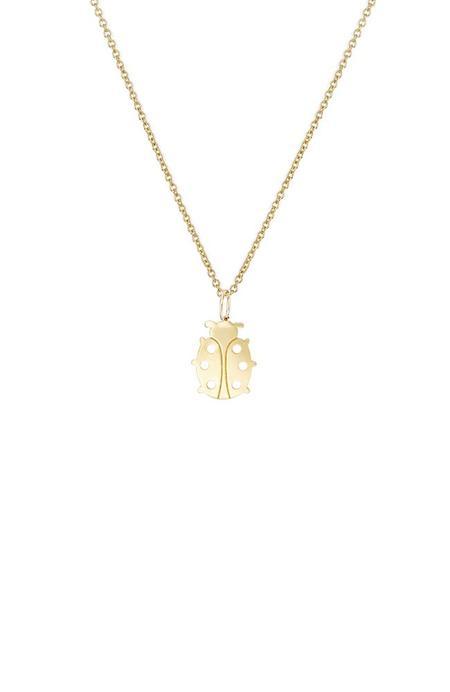 Sydney Evan 14K Tiny Ladybug Necklace - Yellow Gold