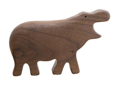 KIDS Eguchi Wooden Hippo Rattle