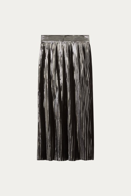 frankie. Pleated skirt - Silver
