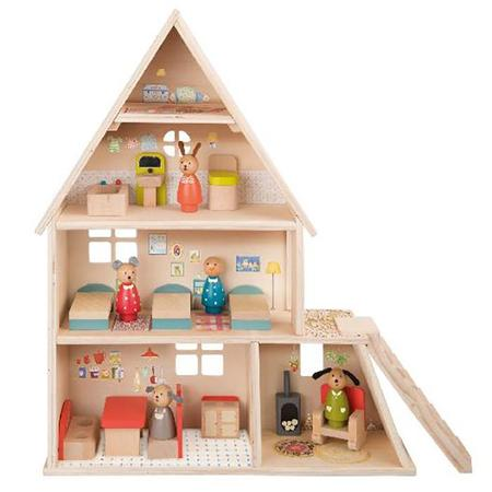 KIDS Moulin Roty Doll House With Furniture