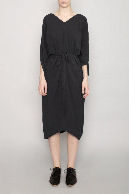 7115 by Szeki Signature Kimono Dress - Black
