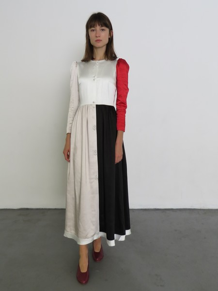 REJINA PYO QUINN DRESS - SATIN MIX