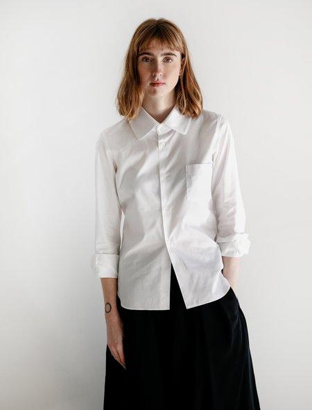 Comme des Garçons Square Collar Shirt - White