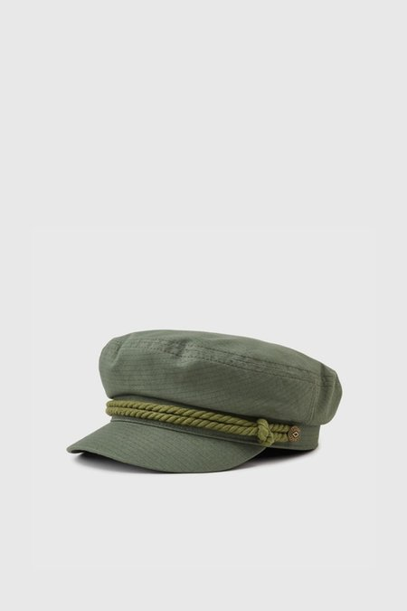 Unisex Brixton Fiddler Cap - Light Olive