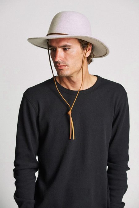 Brixton Tiller Hat - Heather/Stone