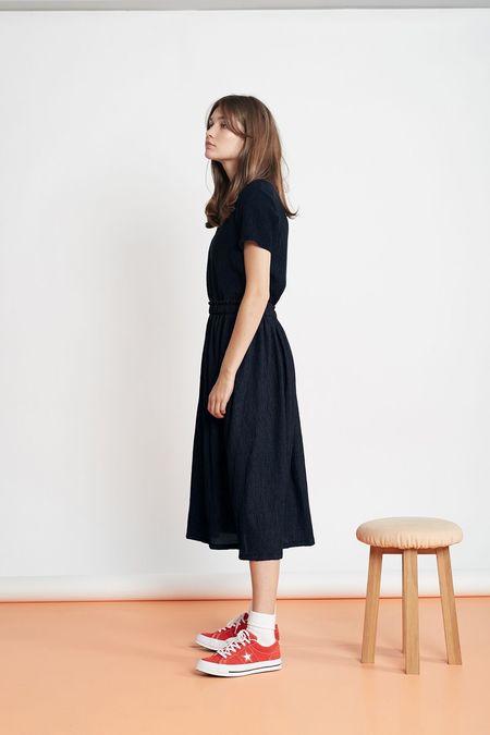 Twenty-Seven Names The Contest Skirt - Navy Crinkle
