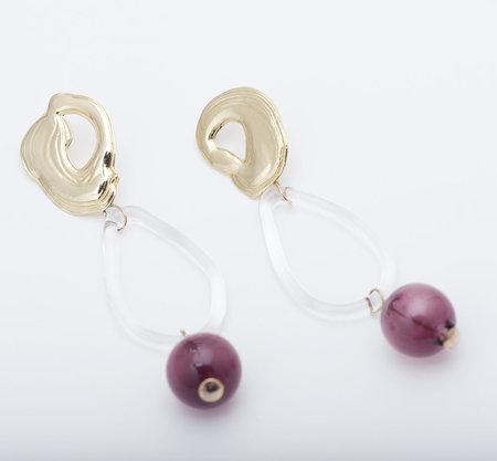 Leigh Miller Amethyst Glass Bauble Earrings