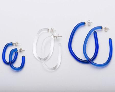 Leigh Miller Glass Hula Hoops - Cobalt