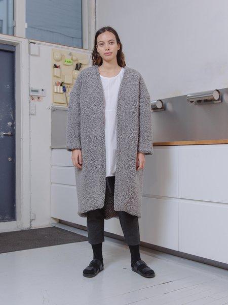 Priory Shop SherpaTeddybear Jacket - Heather Grey