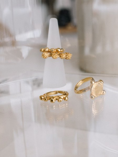 Emma Homfray Burr Stacking Ring - Gold