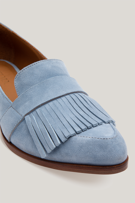 Thelma The Fringe Loafer - Powder