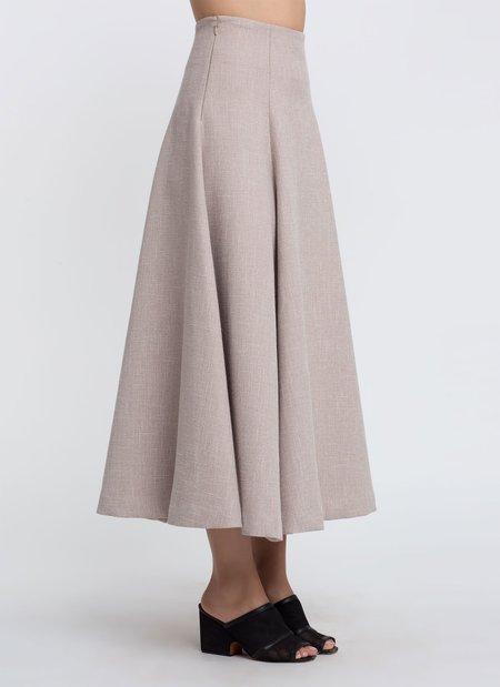 KAAREM Panax Panel Maxi Skirt - Beige Sesame
