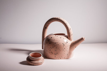 YYY Speckle Puff Teapot - Peach