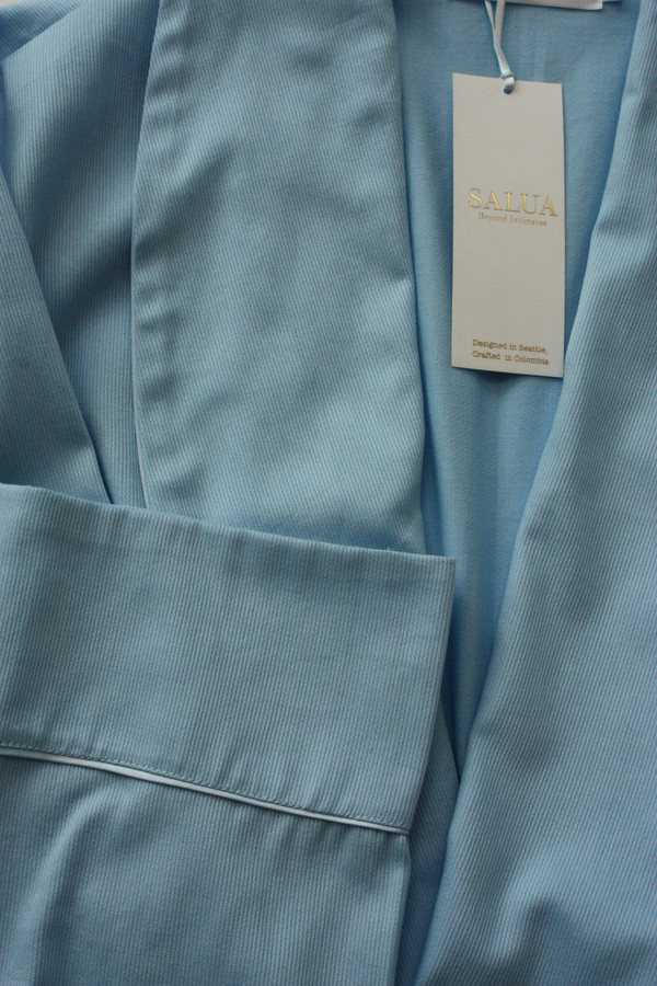 "Salua Atelier  Classic Cotton Pique Robe 39"""