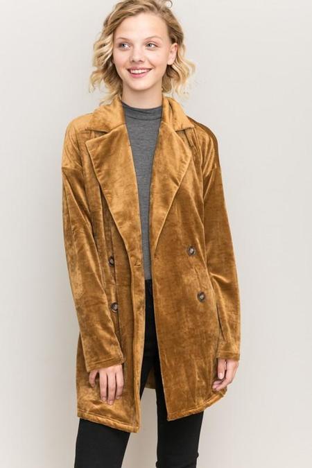 Hem & Thread Greenwich Velour Corduroy Jacket - Camel