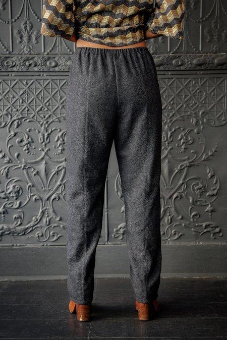 Pamela Mayer Slouch Pocket Pant - Marled Charcoal Black