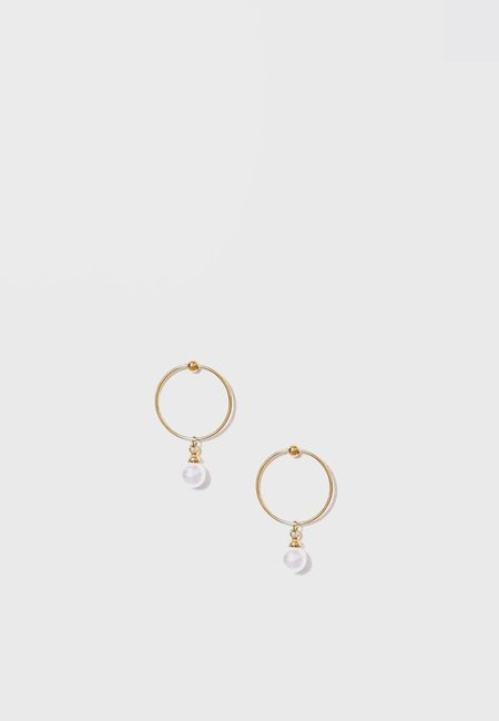 Wos Pearly Earrings - Gold/Pearl