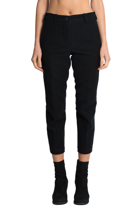 Forme D'Expression Cropped Swag Pants - Black