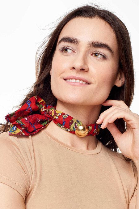Tiklari Exclusive Tropical Scarf Choker