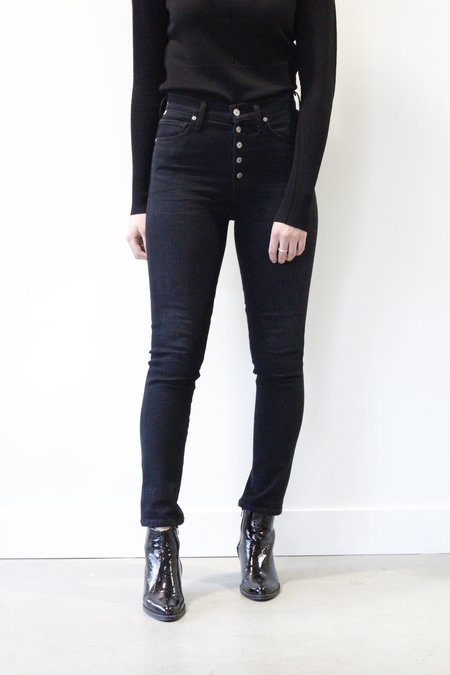 Citizens Of Humanity Olivia Exposed Button Fly High Rise Jean - Licorice