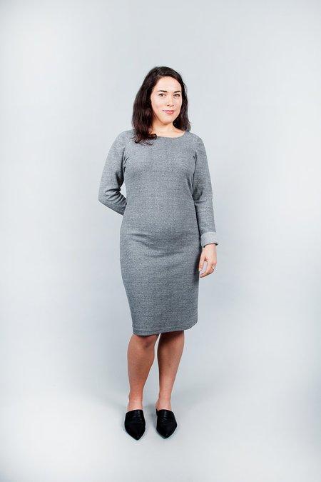 Pillar Aspen Rib Dress - Grey