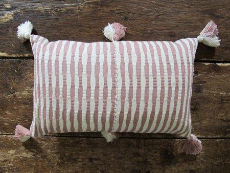 Archive New York Vintage Antigua Pillow - Tan/White