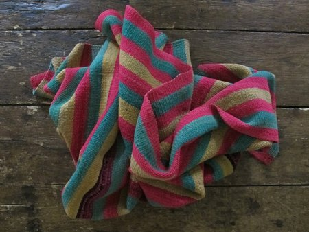 Little Journeys Bolivian Blanket - Melon Stripe