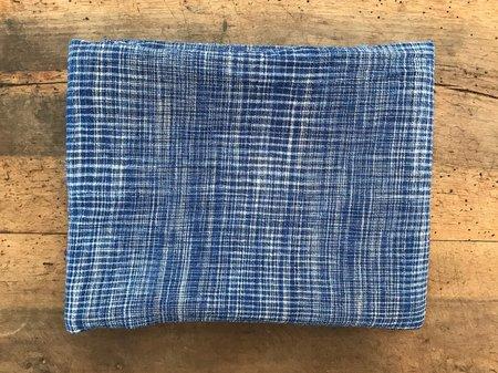 Auntie Oti Cotton Lungi Shawl - Dark Blue