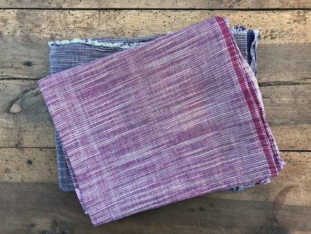Auntie Oti Cotton Lungi Shawl - Purple