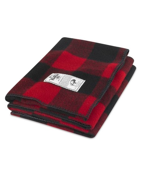 "Woolrich 50""x60"" Rough Rider Wool Blanket - Red"