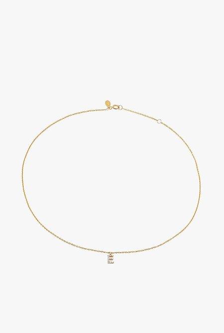 Eriness Diamond Initial Choker - 14k gold/white diamond