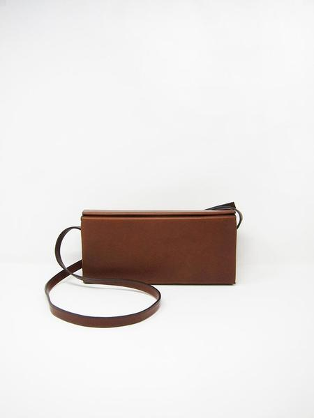 Isaac Reina Pleated Box Shoulder Bag - Chestnut