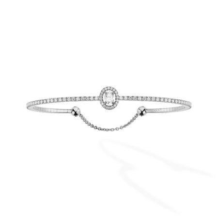 Messika Glam'Azone Skinny Bracelet - 18k White Gold with Diamonds