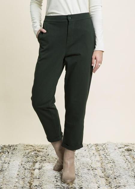 Labo.Art Filippo Cuffed Easy Pant - moss