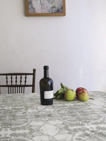 erica tanov botanicus tablecloth - natural/olive