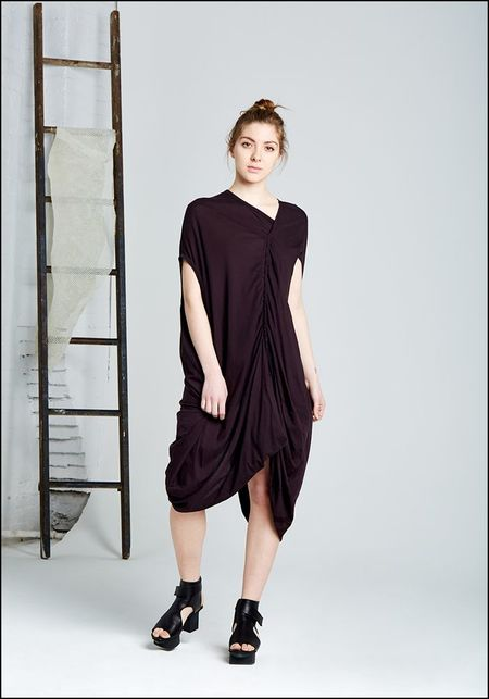 Rundholz Dip Leather Tie Tunic