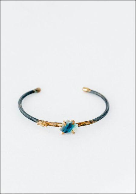 Variance Objects Australian Opal Cuff Bracelet - Azure