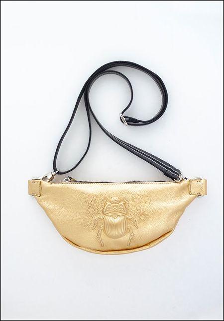 Gabriele Frantzen Embossed Leather Scarab Belt Bag - GOLD