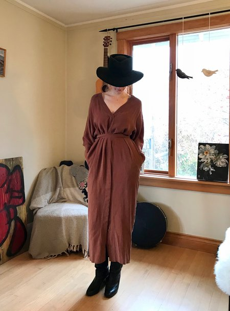 7115 by Szeki Rope Dress - Rust