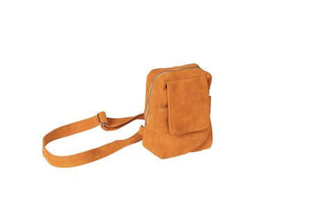 Clyde Chest Suede Pouch - Persimmon