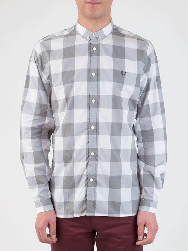 Men's Fred Perry Oversized Gingham Shirt