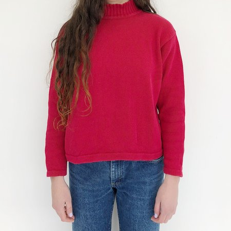 Vintage Johan Cotton Mockneck - Red
