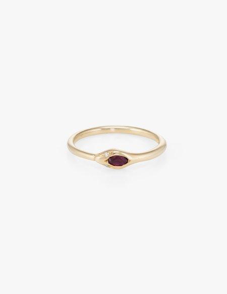 Kathryn Bentley Ruby Ouroborus Ring